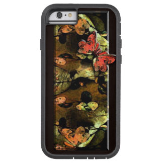 Abstract Leaves Phone Case - Red Orange Tough Xtreme iPhone 6 Case