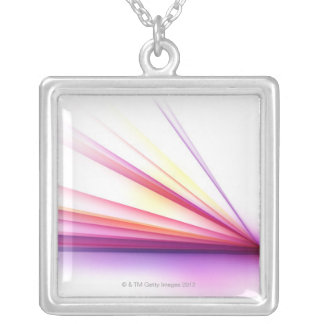 Abstract Lines 6 Silver Plated Necklace