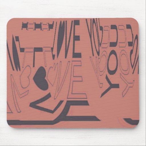 Abstract Love You Mouse Pad
