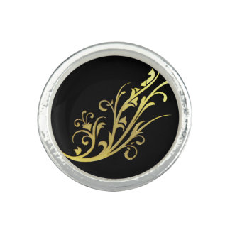 Abstract Luxury Faux Gold Flower