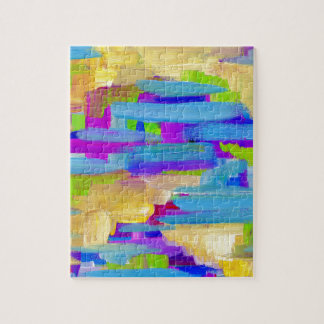 Abstract Marsh Jigsaw Puzzle