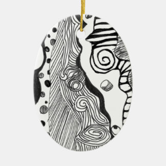 Abstract mind christmas ornament