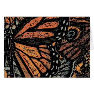 Abstract Monarch Butterfly Note Card