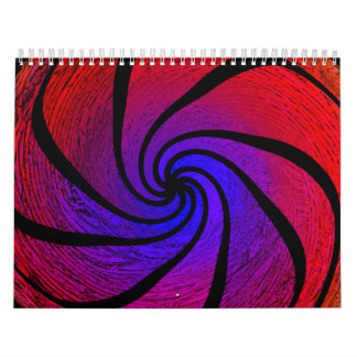 Abstract Month by Month Calendars