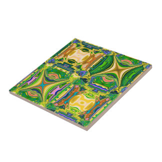 Abstract Moroccan Squares Design Tile