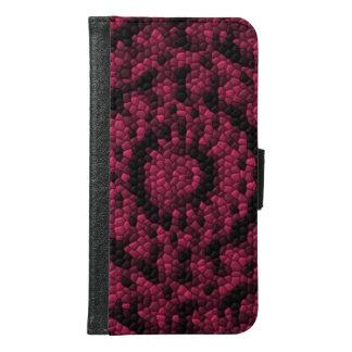 Abstract mosaic samsung galaxy s6 wallet case