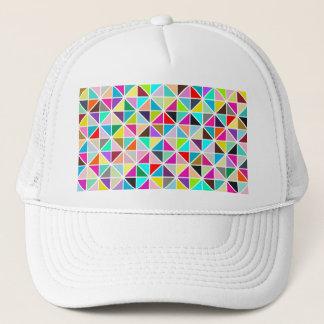 Abstract Multicolor kaleidoscope Diamond Pattern Trucker Hat