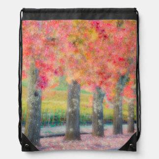 Abstract of Napa Valley trees Drawstring Bag