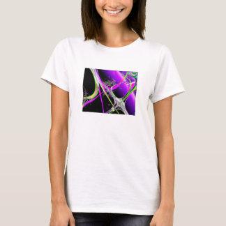 Abstract on Black Short Sleeve Shirt