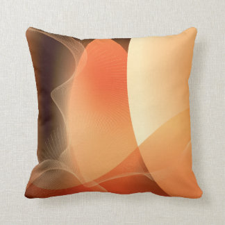 Abstract Orange and Brown Pattern Cushions