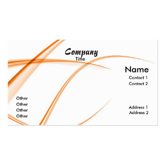 Abstract Orange Pack Of Standard Business Cards