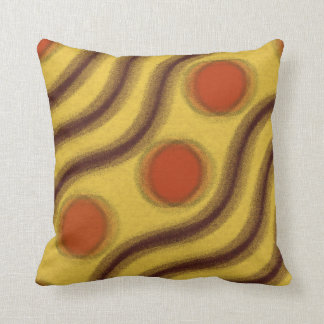Abstract Orange Yellow & Brown Throw Pillow Throw Cushions