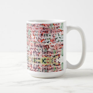 Abstract painted typography  wrapped mug
