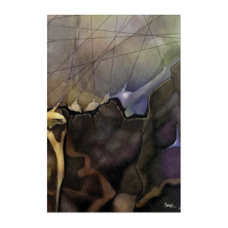 Abstract Painting #2 Right Piece from Set of 2 Acrylic Print