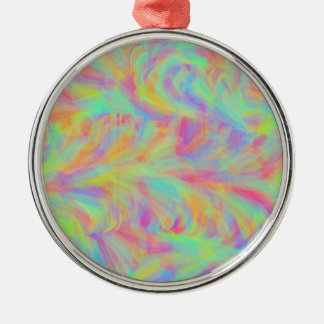 Abstract Pastels Swirl Circle Design Christmas Ornament