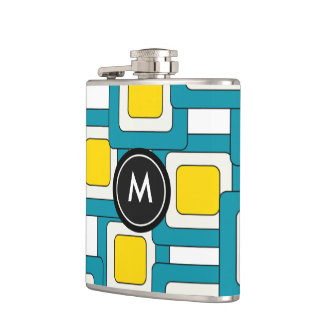 Abstract pattern with Monogram Hip Flask