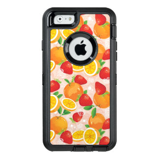 Abstract pattern with strawberry OtterBox defender iPhone case