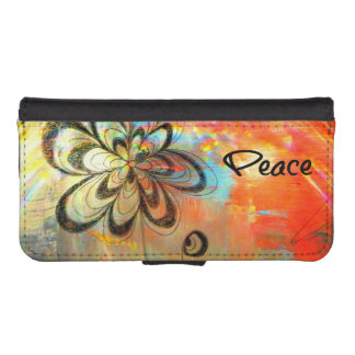 Abstract Peace iPhone SE/5/5s Wallet Case