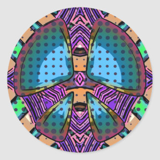 Abstract Peace Sign Stickers