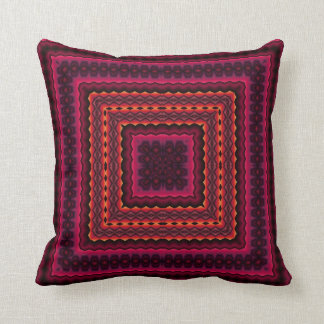 abstract pink and orange pillow