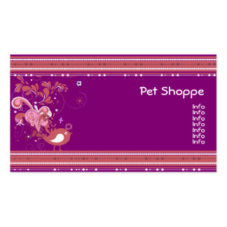 Abstract Pink and Purple Bird Business Cards