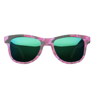 Abstract Pink Black Roses Sunglasses