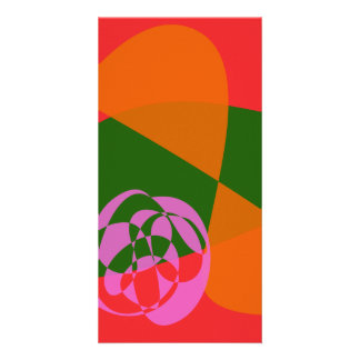 Abstract Pink Flower 2 Customized Photo Card
