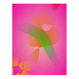 Abstract Pink Flower Postcard