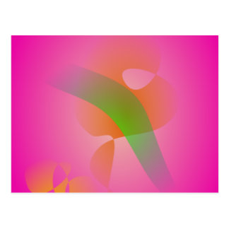 Abstract Pink Flower Post Card