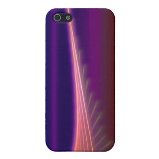 Abstract Pink Purple Lines Cover For iPhone 5/5S