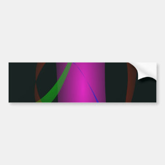 Abstract Pink Waterfall in the Dark Bumper Sticker