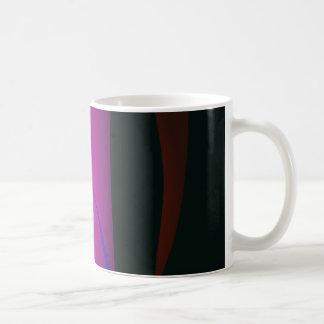 Abstract Pink Waterfall in the Dark Coffee Mugs