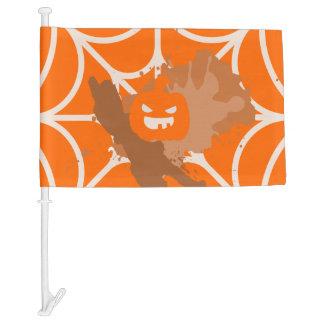 Abstract Pumpkin Car Flag