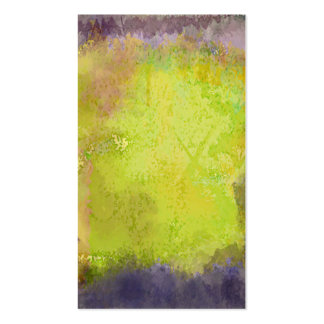 Abstract Purple and Yellow Texture Pack Of Standard Business Cards