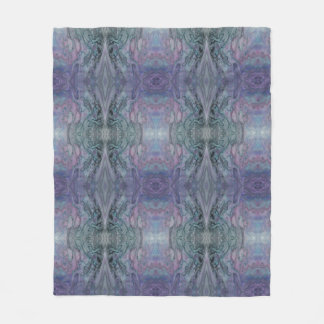 Abstract Purple Blue and Black Fleece Blanket