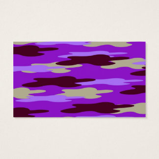 Abstract Purple Camo Camouflage Business Card