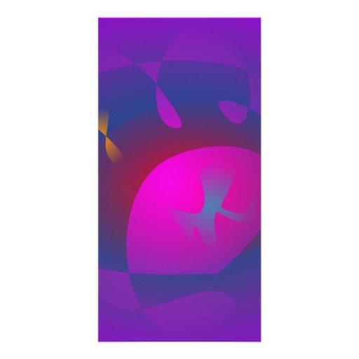 Abstract Purple Nebula Art Personalized Photo Card
