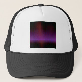 abstract purple techno trucker hat