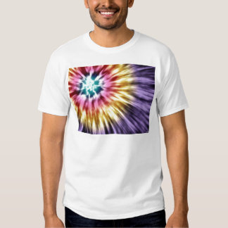 Abstract Purple Tie Dye Tee Shirt