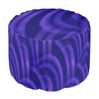 Abstract Purples Design Round Pouf Seat