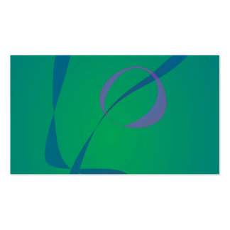 Abstract Rabbit Green Business Cards