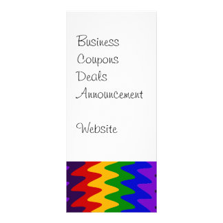 Abstract Rainbow Saw Blade Ripples Colorful Design Rack Card