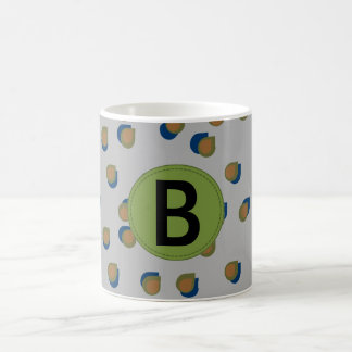 Abstract Raindrops Letter Mug