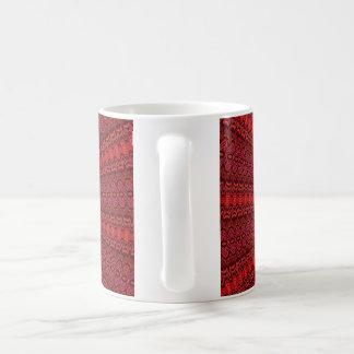 Abstract rays and circles coffee mug