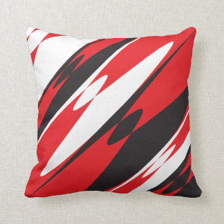 Abstract Red and Black Throw Cushions