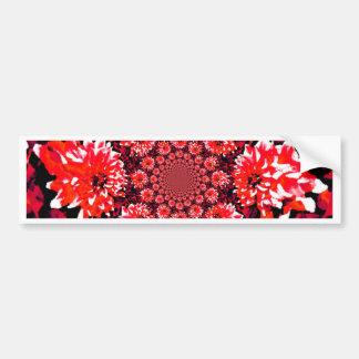 Abstract Red Dahlia Bumper Sticker