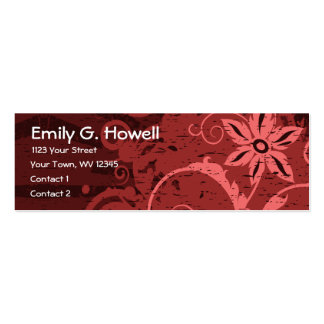Abstract Red Floral Business Cards