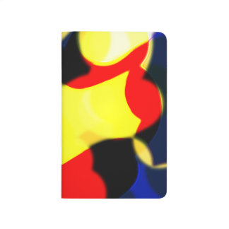 Abstract Red Yellow and Blue Pocket Journal