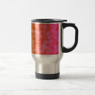 Abstract Red Yellow Geometric Art Coffee Mug