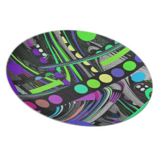 Abstract Retro Design Dinner Plate